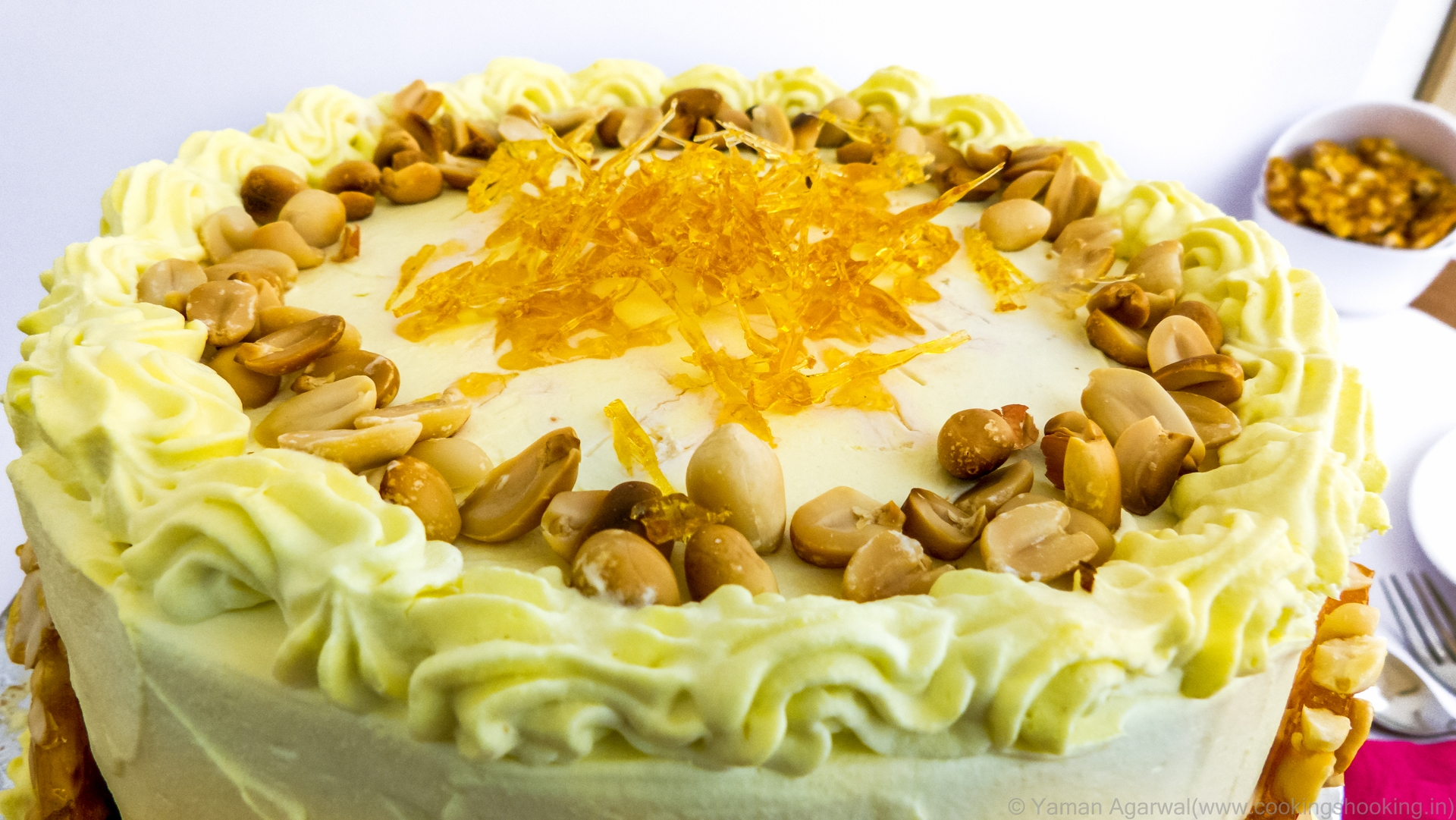 How To Make Eggless Butterscotch Cake At Home