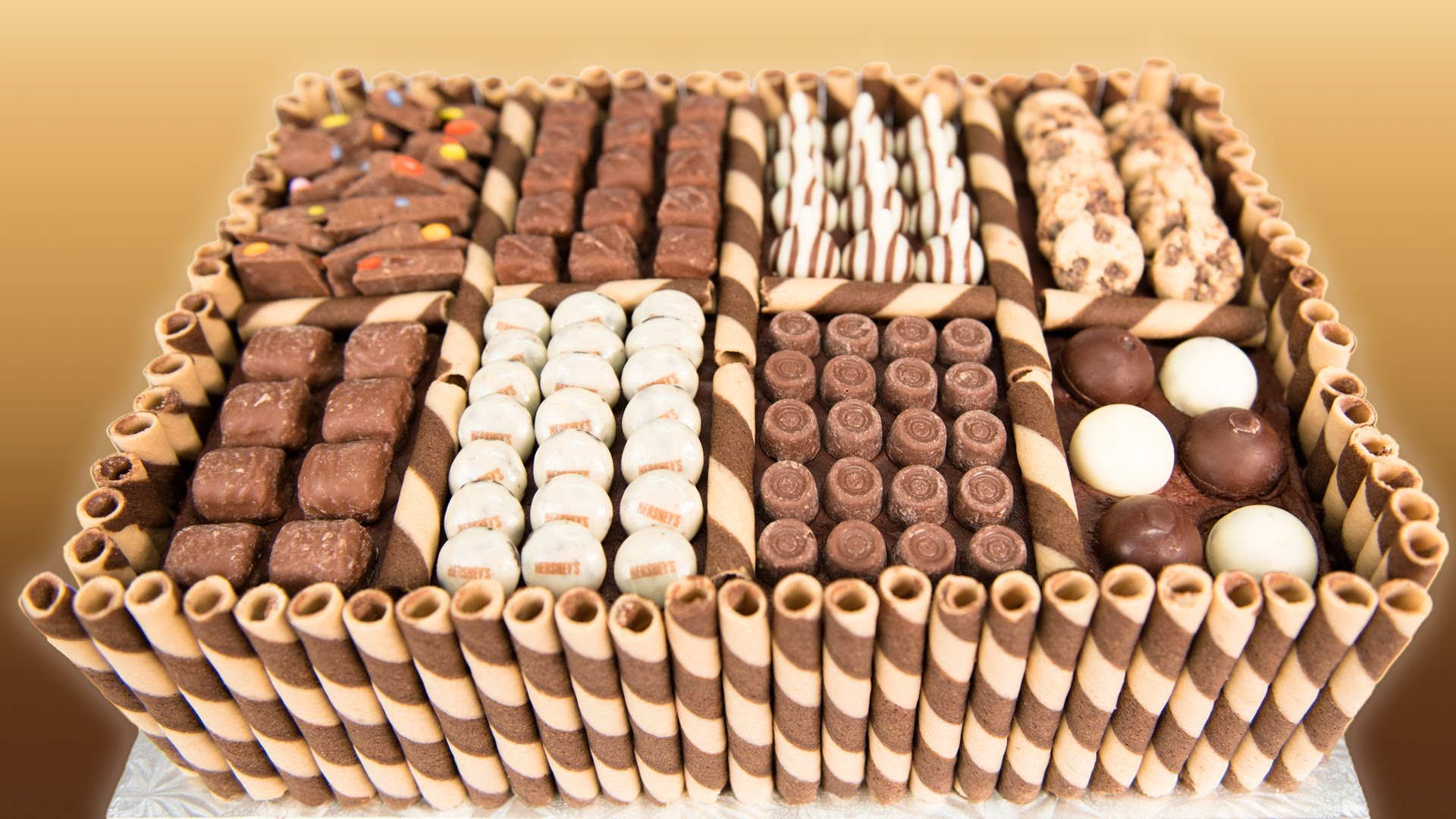 Beautifully made chocolate stick cookies