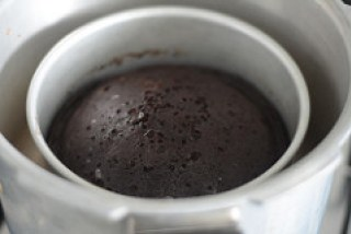 Home Made Exquisite Chocolate Cake in Cooker